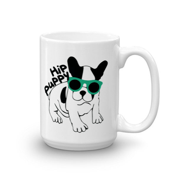 Original Hip Puppy logo Pet, dog themed mug - coffee cup