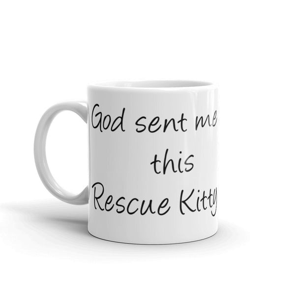 Wonderful rescue cat saying - Pet themed coffee mug - cup