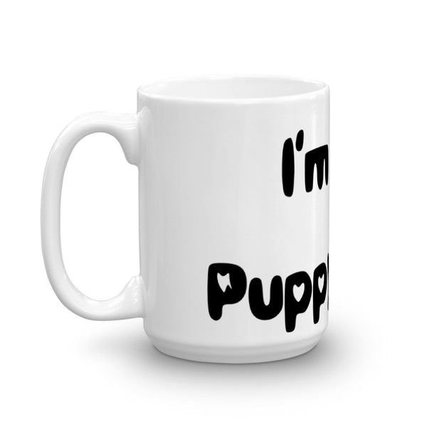 I'm in Puppy Love - Mug - sturdy white, glossy ceramic