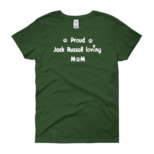 Jack Russel dog breed T shirt - stylish custom font