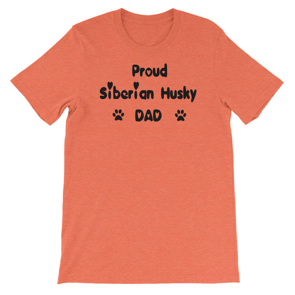 Proud Siberian Husky DAD - Unisex t-shirt - Baby-knit jersey