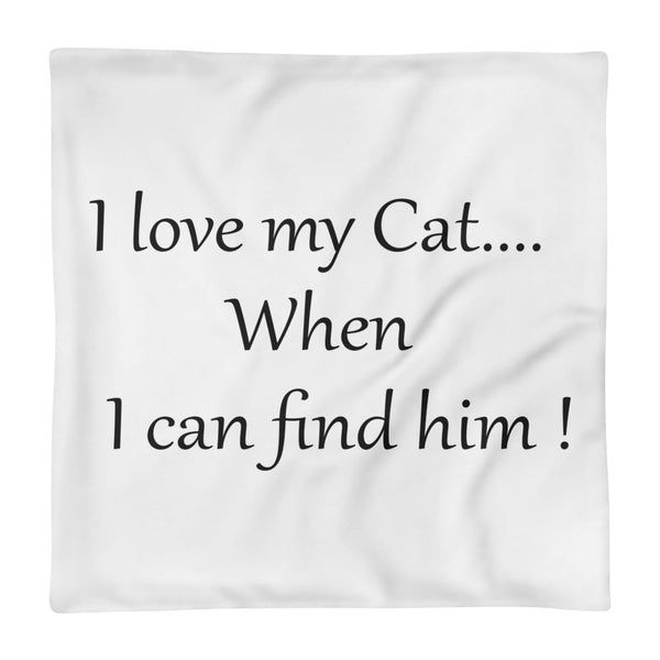 Pet themed Pillow Case - I love my Cat....when I can find him.