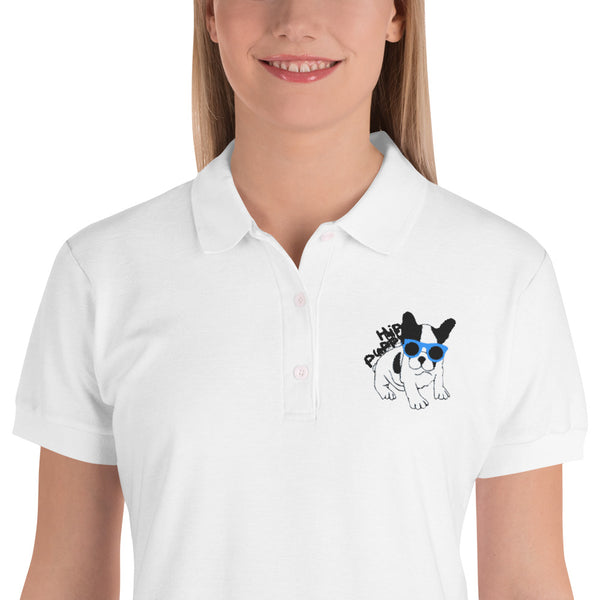 Original Hip Puppy logo - Custom Embroidered Women's Polo Shirt
