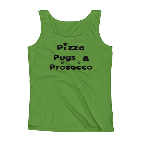 Pizza Pugs & Prosecco - Ladies' Tank - pre-shrunk ring-spun cotton