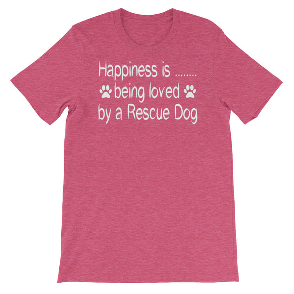 Happiness is being loved by a Rescue Dog -Unisex t-shirt -  Baby-knit jersey