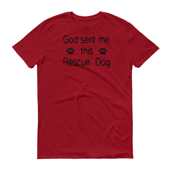 Rescue Dog lover gift - short sleeve rescue pet themed Tee shirt
