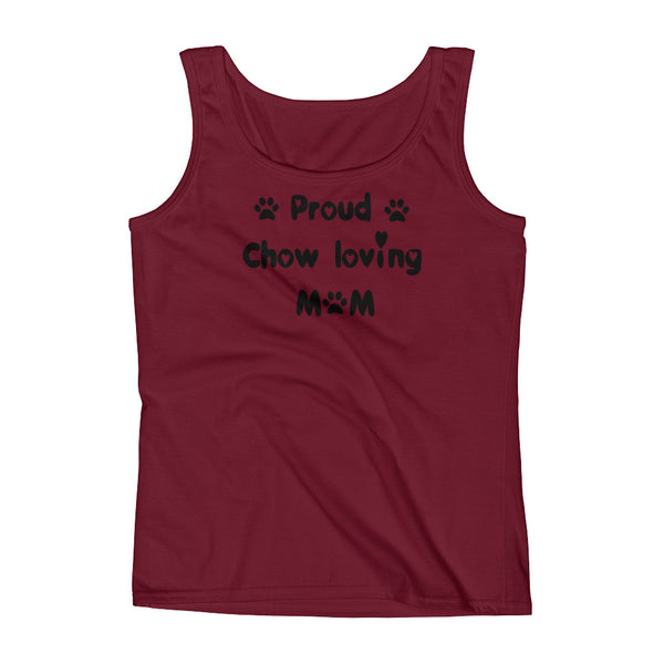 Proud Chow loving Mom - Ladies' Tank -  100% pre-shrunk ring-spun cotton
