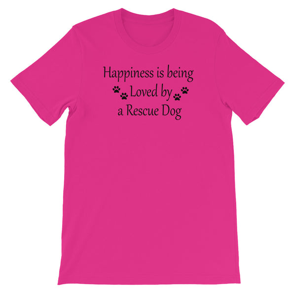 Rescue Dog lover gift - Pink T shirt