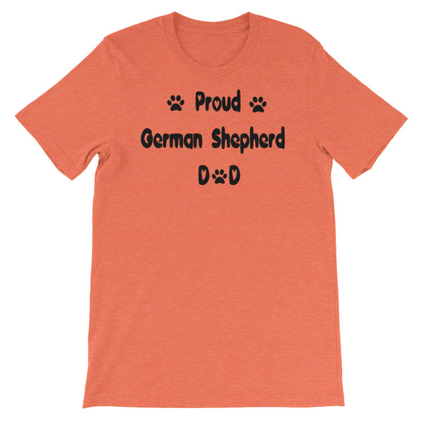 Proud German Shepherd  Dad- dog breed T shirt