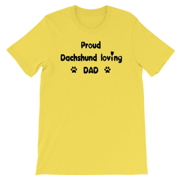 Proud Dachshund loving DAD - Unisex t-shirt -  Baby-knit jersey