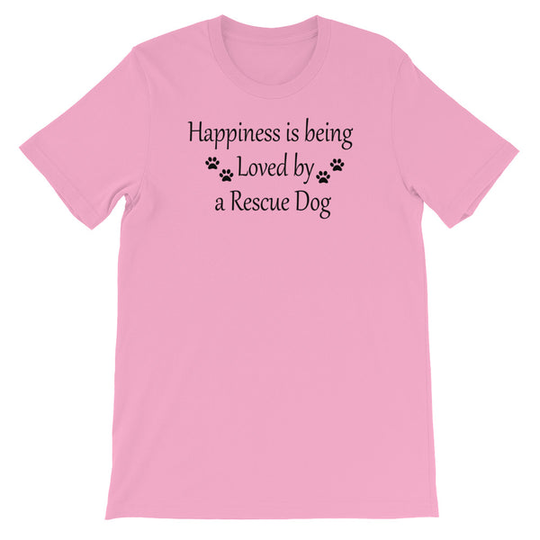 Rescue Dog lover gift - pink Tee shirt