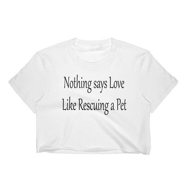 Wonderful pet saying on  100% 30/1 combed cotton • Form fitting crop top