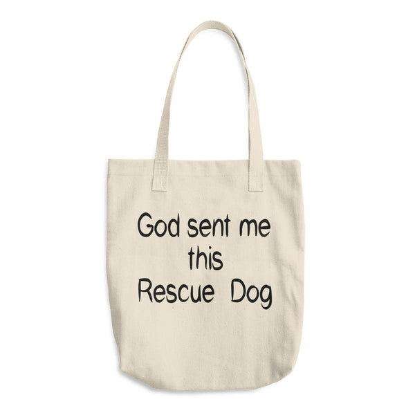 Rescue pet - rescue Dog themed Tote bag. Made in USA