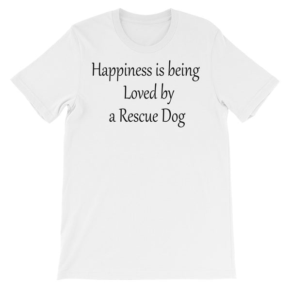Loved by Rescue Dog -  rescue dog themed - pet themed  ladies T shirt