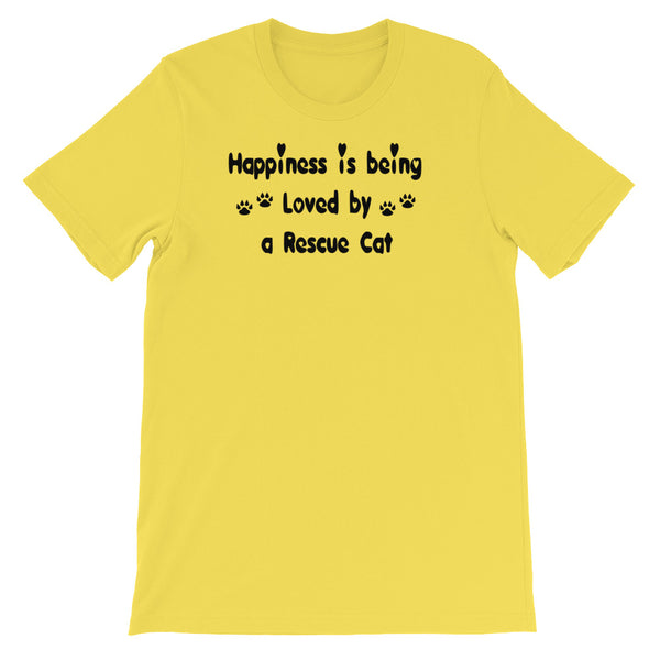 Being loved by - Rescue Cat - rescue pet themed T shirt