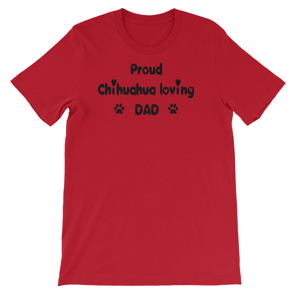Proud Chihuahua loving DAD - Unisex t-shirt -  Baby-knit jersey