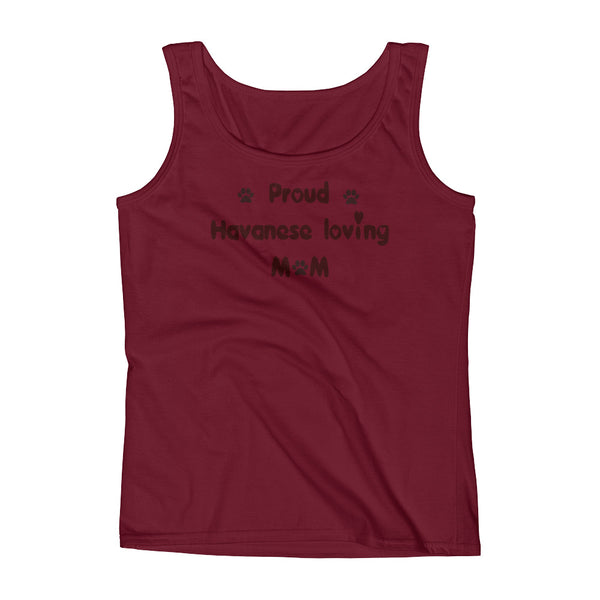 Proud Havanese loving Mom - Ladies' Tank - pre-shrunk ring-spun cotton
