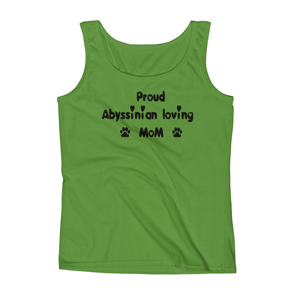 Abyssinian loving Mom - Ladies' Tank -Hip cat pet lover Tee shirt gift