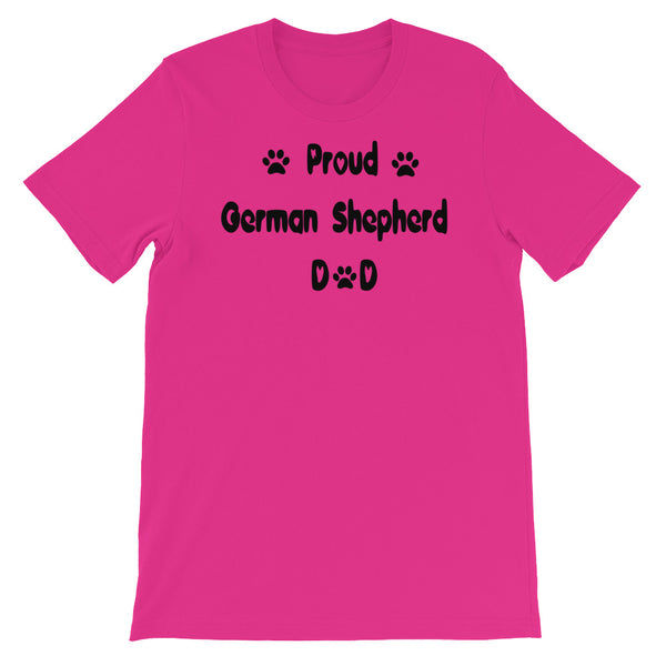 Proud German Shepherd Dad - Unisex t-shirt - Baby-knit jersey