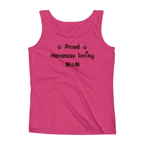 Proud Havanese loving Mom - Tank top shirt
