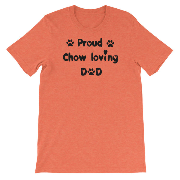 Proud Chow loving Dad - dog themed T shirt
