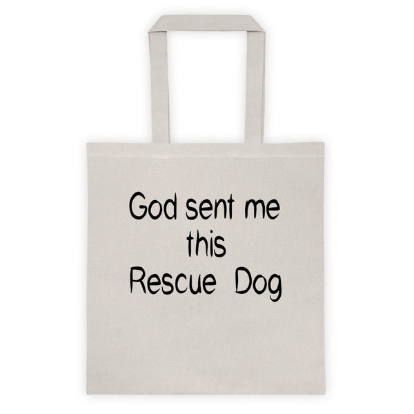 Rescue pet - rescue dog themed cotton canvas Tote