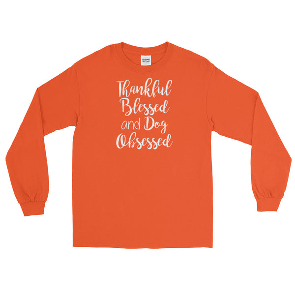 Dog lover obsessed and blessed long sleeve T shirt gift