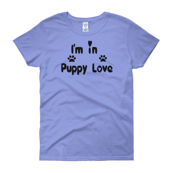 I'm in Puppy Love - unique cute pet themed - dog lover Unisex T-Shirt