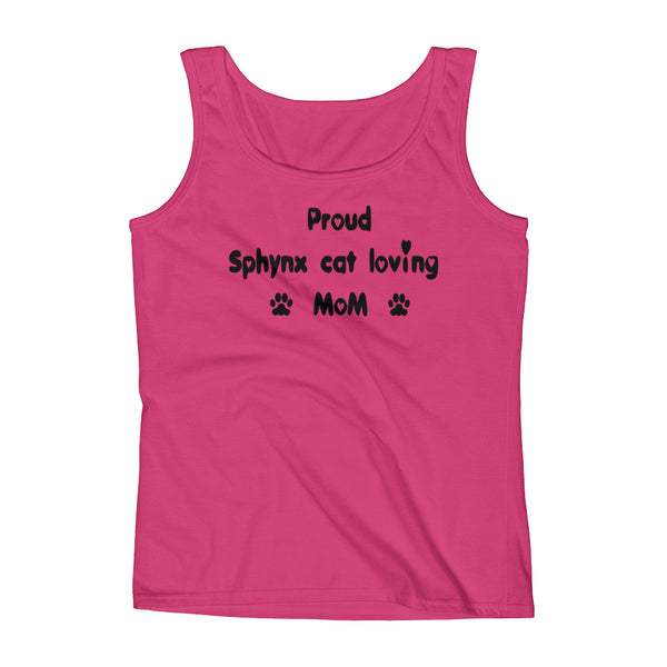 Proud Sphynx cat loving Mom - tank top shirt