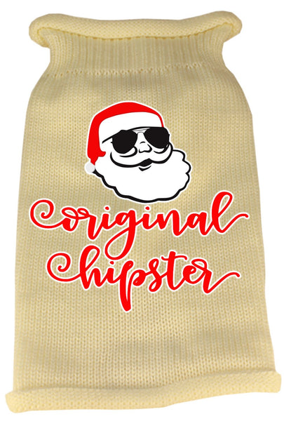 Original Hipster - Screen Print Dog Sweater - Made in USA