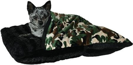 Camouflage Pet Pocket Bed for Pets that Burrow-Made in USA