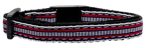 Preppy Stripe design – Cat Safety Collar - Made in USA