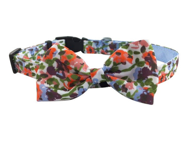 Wildflowers Removable Bow/Bow Tie Collar