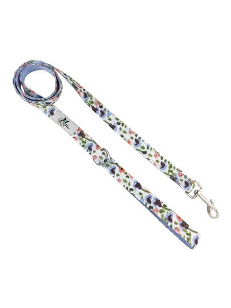 Wildflowers Leash - available in two lengths with a heavy duty clip leash end and an additional D ring at the base of the handle to clip your keys