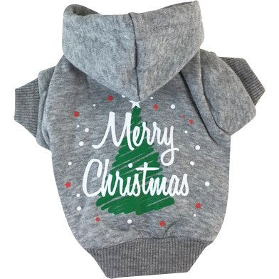 Merry Christmas - Dog Hoodie - Constructed of soft, warm cotton
