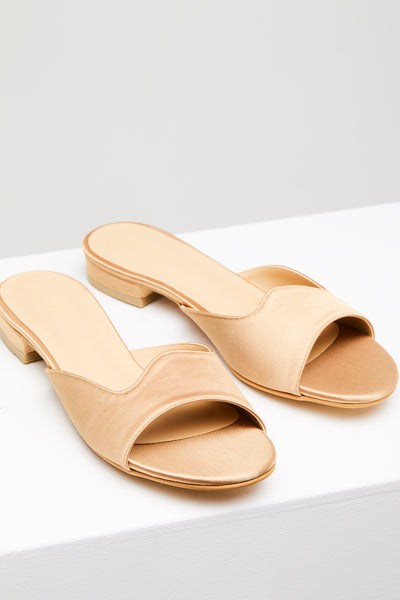 EDITH Sandal Gold Satin