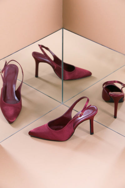 LUISA Burgundy Pump