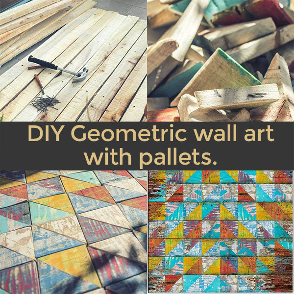 DIY Geometric wall art with pallets  🤙