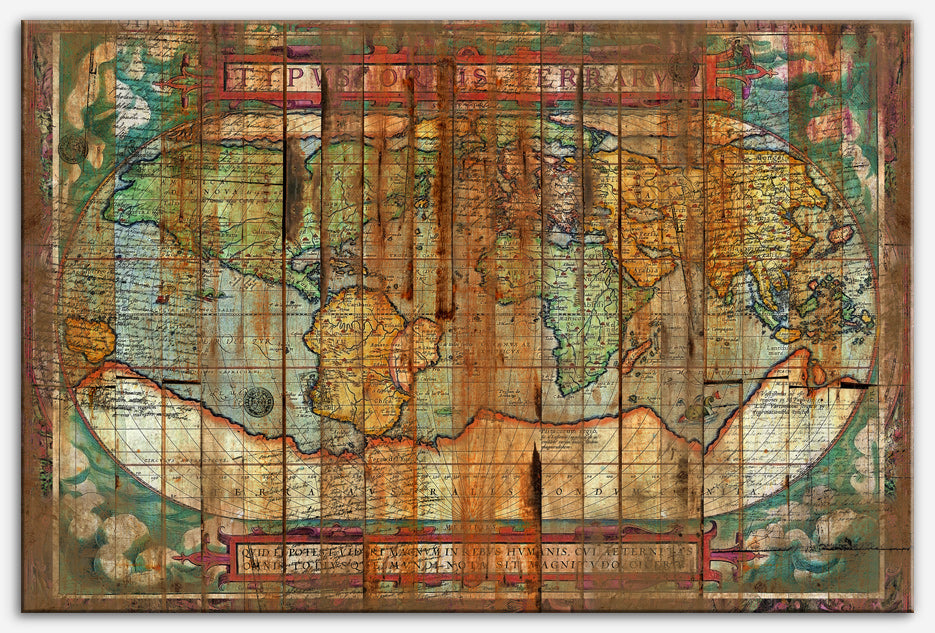 Antique World - Distressed map