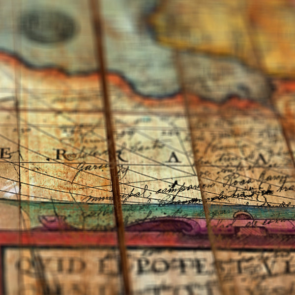 Antique World - Distressed map details