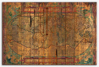 Distressed Old Map - World map art