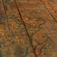 Distressed Old Map - affordable art