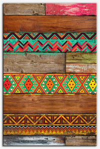 Indian Wood (Aztec pattern) Canvas Print