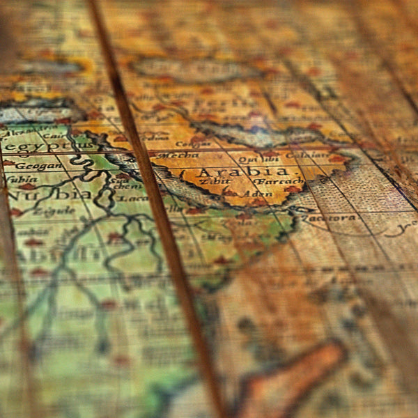 Antique World - Distressed old map