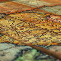 Antique World - Reclaimed wood map
