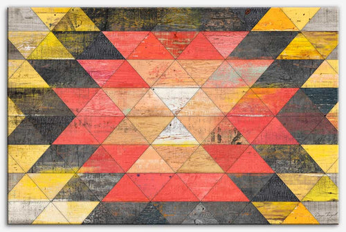 Reclaimed Triangle Pattern - Geometric art