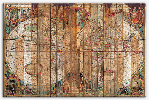 Reclaimed Wood Map - Old world map