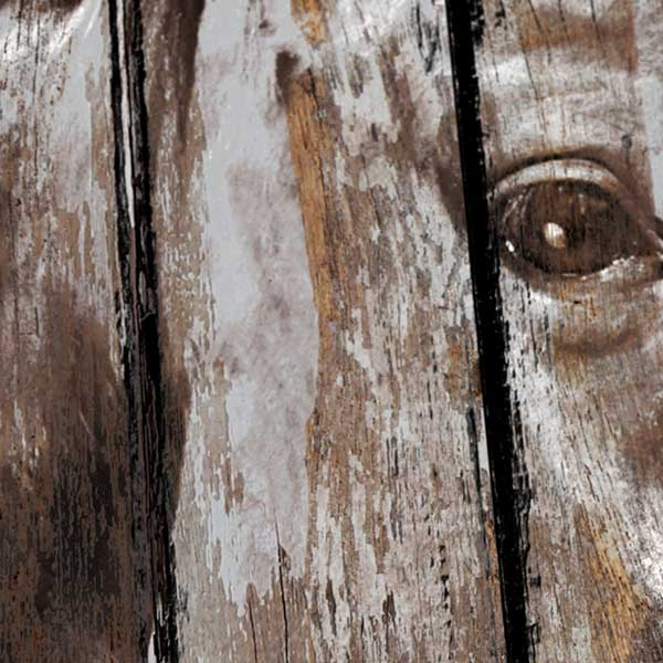Three Horses - Industrial style, Reclaimed wood art, detail1