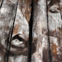 Three Horses - Industrial style, Reclaimed wood art, detail2