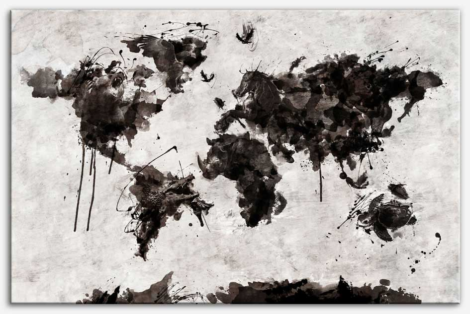 Maps canvas diego tirigall wild world canvas print gumiabroncs Image collections